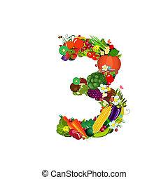 légumes frais, fruits, numéro 3