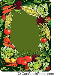 légumes, frame.