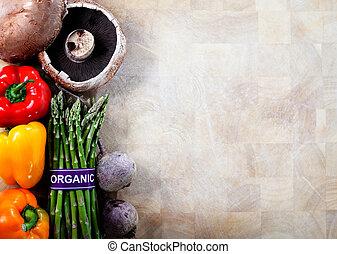 légumes, organique, fond