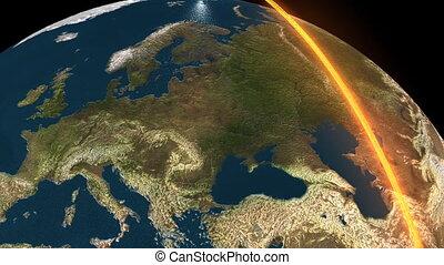 la terre, 3d animation