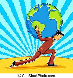 la terre, business, tenue, homme