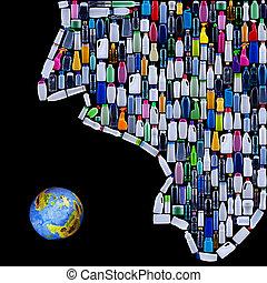 la terre, civilisation, menacer, homme