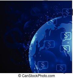la terre, dollar, icônes