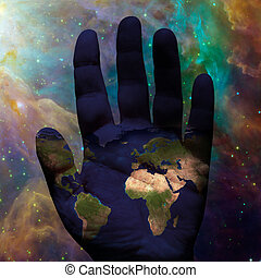 la terre, galactique, main