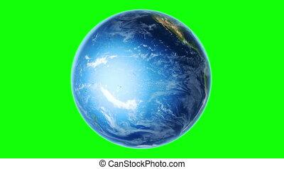 la terre, hémisphère, méridional, vert