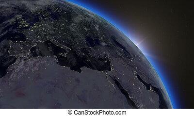 la terre, levers de soleil