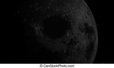 la terre, lune, zoom, espace