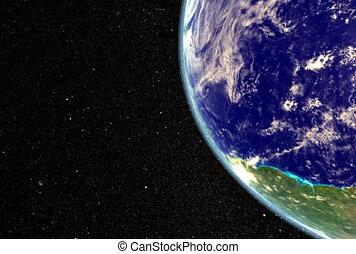 la terre, moon., ntsc, cg.
