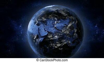 la terre, nuit