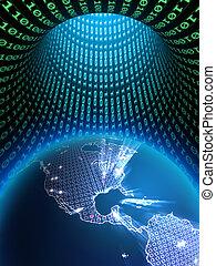 la terre, numérique