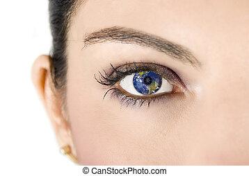 la terre, oeil