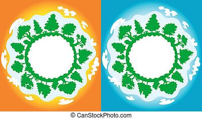 la terre, propre, pollution
