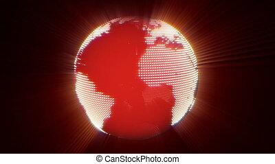 la terre, rayons