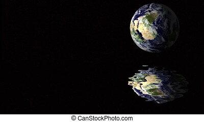 la terre, reflet