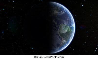 la terre, soleil