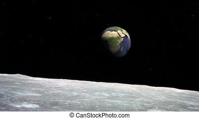 la terre, surface lune