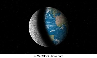 la terre, toujours, lune, changer