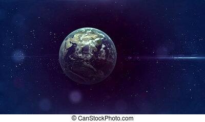 la terre, voyage, espace