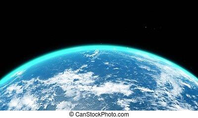 la terre, vue, fin, sur, haut, espace