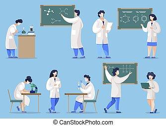 laboratoire, étudiants, chimie, chimistes