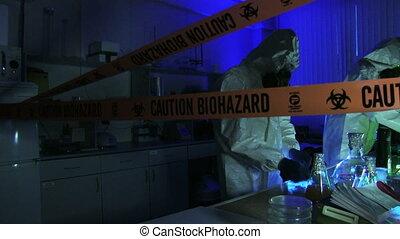 laboratoire, hasardeux, scientifiques