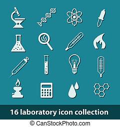 laboratoire, icônes