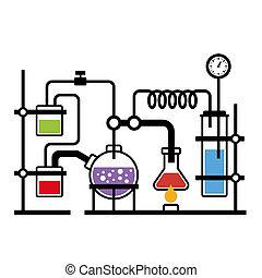 laboratoire, infographic, chimie