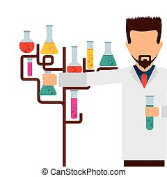 laboratoire, scientifique