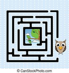 labyrinthe, branche, hibou, résumé