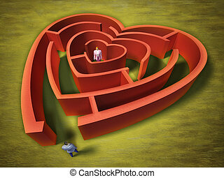 labyrinthe, coeur