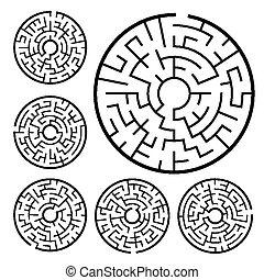 labyrinthe, ensemble, circulaire