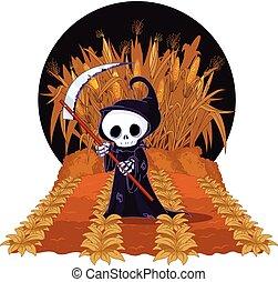 labyrinthe, maïs, reaper, sinistre