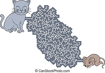 labyrinthe, rat, chasse