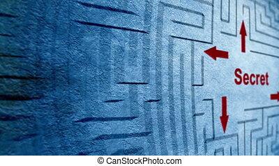 labyrinthe, top secret, concept