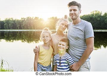 lac famille, portrait