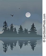 lac, lune