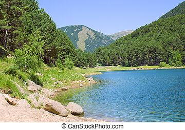 lac montagne, été