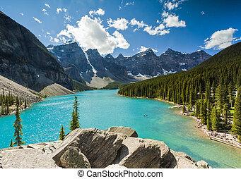 lac moraine, parc, national, banff