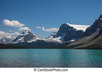 lac, parc, national, banff, arc