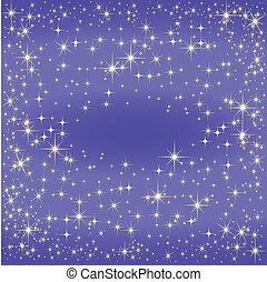 laiteux, bleu, manière, carte, étoile