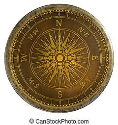 laiton antique, compas