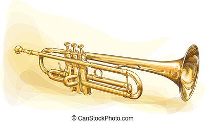 laiton, trompette