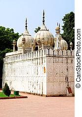 lal, qil'ah, unesco, aussi, héritage, site, delhi, célèbre, fort, perle, connu, mondiale, mosquée, 'moti-masjid'