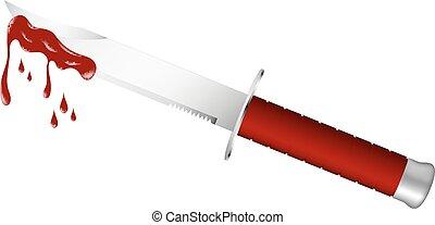 lame, couteau, sanglant