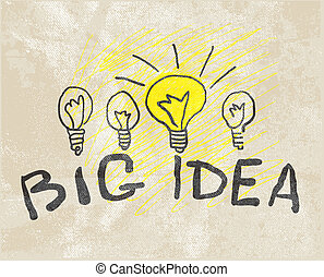 lamp., innovateur, idée, grand