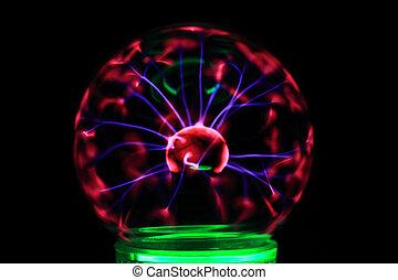lampe, expérience, plasma