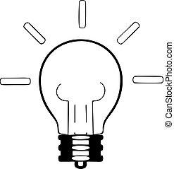 lampe, illustration, vecteur, fond blanc