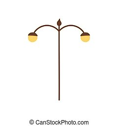 lampe, lumière, icône, poste, rue