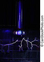 lampe, plasma, électrique