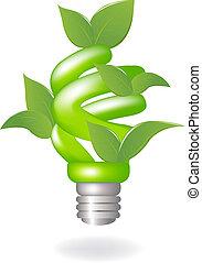lampe, vert